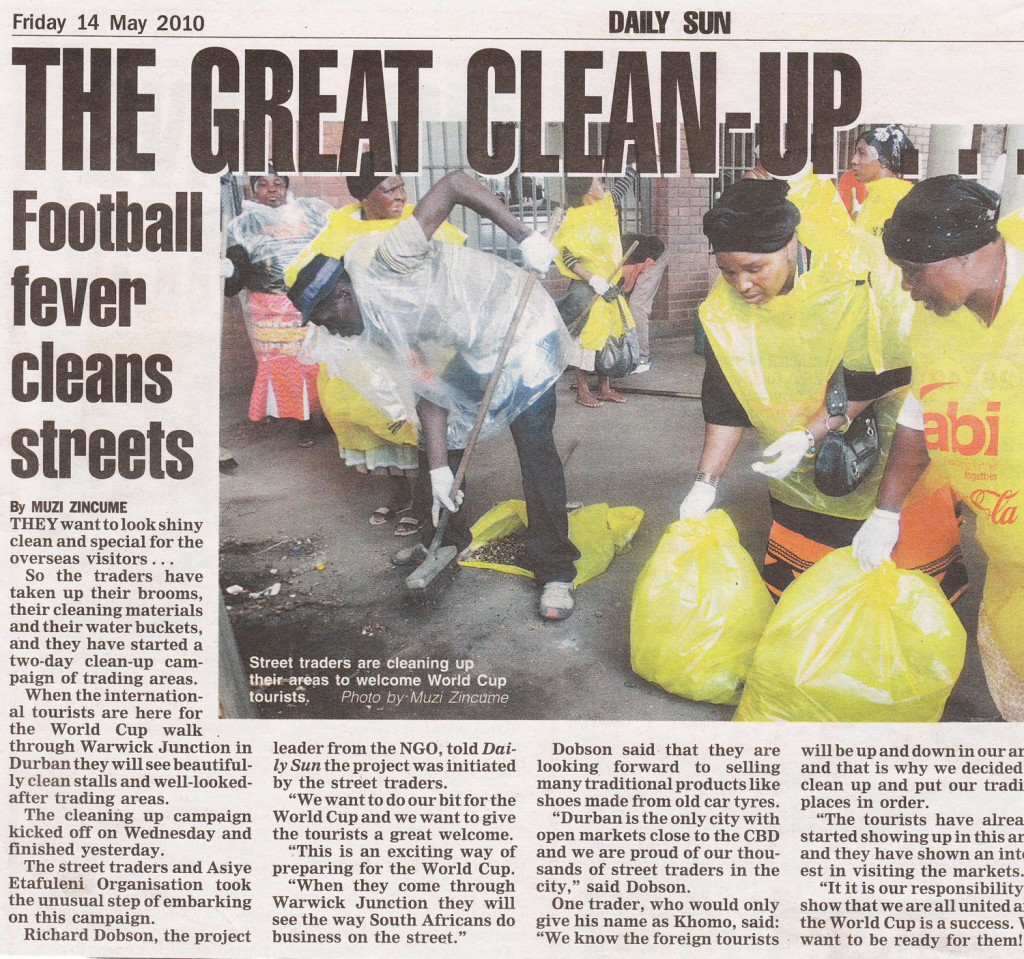 Daily News article on Warwick Markets clean-up