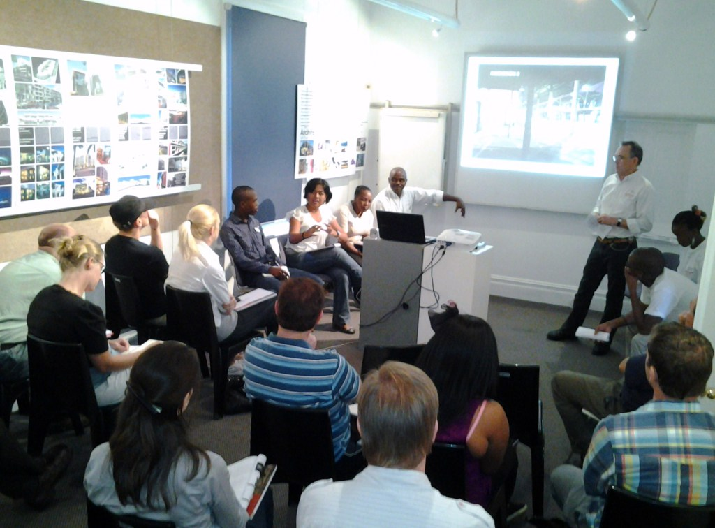 The AeT Team presenting at KZNIA offices. Photo: Georgie Chennels.