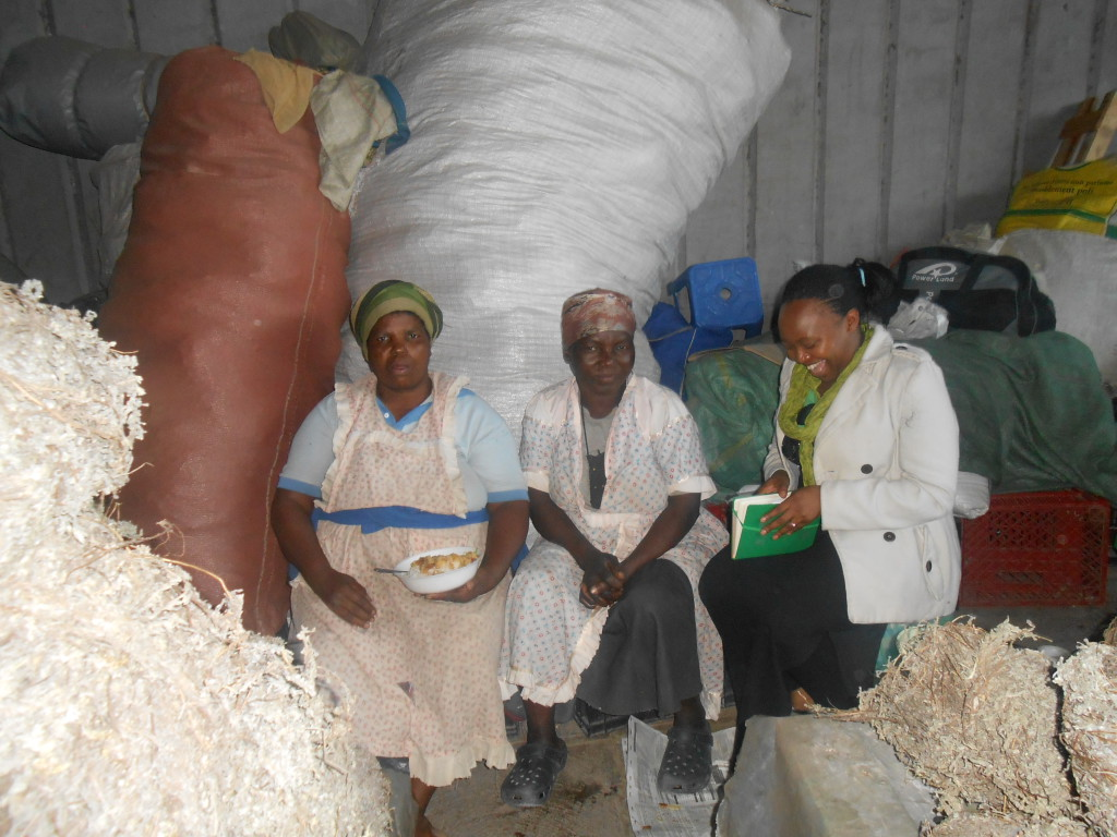 Above: Thandeka interviewing traders in the Lime & Impepho Market.